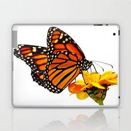 Monarch Butterfly on Zinnia Flower Laptop & iPad Skin