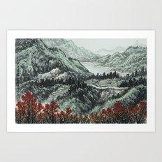 霧社之春 Art Print