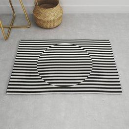 Hypnotic Illusion - Black & White Rug