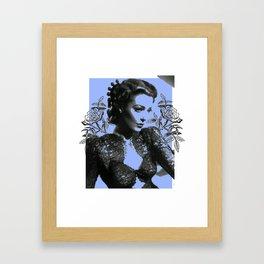 1940's Screen Siren Tattoo Art Framed Art Print