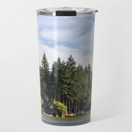 Homes along the shore of Lake Oswego, OR Travel Mug