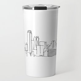 Dallas Skyline Drawing Travel Mug