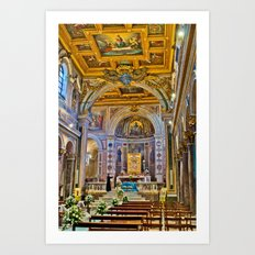 St. Bartholomew on the Island Basilica interior Art Print