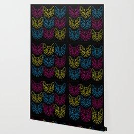 Neon Kitties Wallpaper