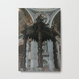 The Baldachin of St. Peter Metal Print