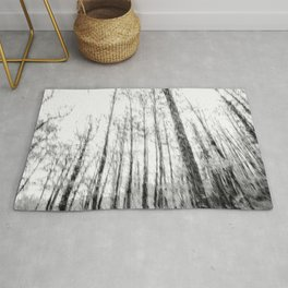 Black and white tree photography - Watercolor series #3 Rug