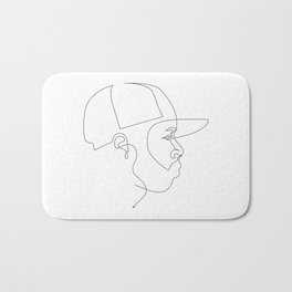 One Line For Dilla Bath Mat
