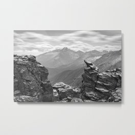 LONGS PEAK BLACK & WHITE - COLORADO ROCKY MOUNTAIN NATIONAL PARK - LANDSCAPE PHOTOGRAPHY PRINT Metal Print