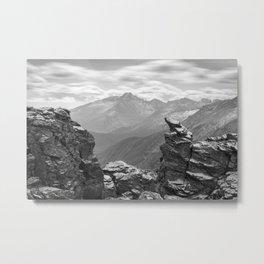 LONGS PEAK BLACK & WHITE COLORADO ROCKY MOUNTAIN NATIONAL PARK LANDSCAPE PHOTOGRAPHY Metal Print