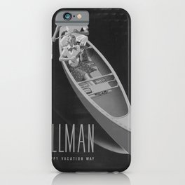retro classic Go Pullman poster iPhone Case