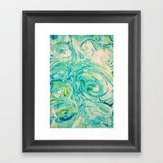 marbling twirl Framed Art Print