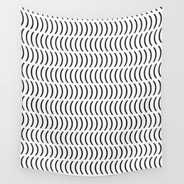 Smiley Small B&W Wall Tapestry