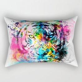 colorful tiger Rectangular Pillow