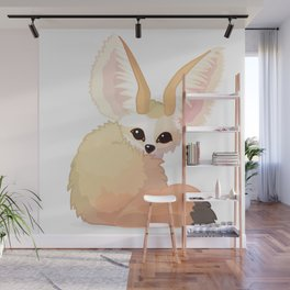 cute fennec foxes. Vector graphic character Wall Mural