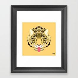 Jaguar Tongues Out Framed Art Print