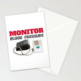 Blood pressure monitoring Stationery Cards