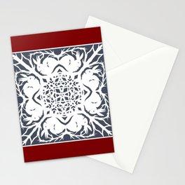 Elegant Cut Paper Bunnies Stationery Cards