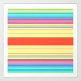 Colorful Bright Spring Stripes Art Print