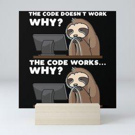 Computer Scientist Programmer Computer Funny Mini Art Print