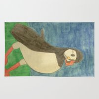 puffin Area & Throw Rugs featuring Puffin by Danielle Gensler