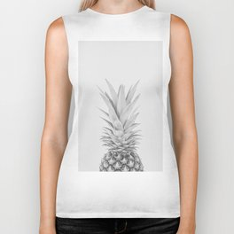 Pineapple a Day - black and white Biker Tank