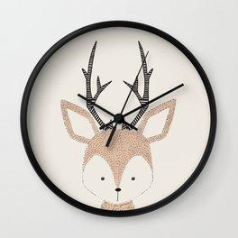 Baby Deer Woodland Animals Cute Fawn Wall Clock