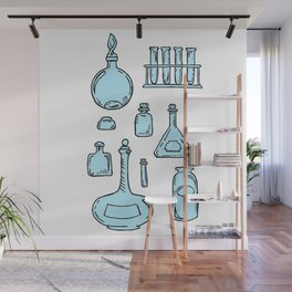 Potions Bottles Design — Apothecary Glass Jars Illustration Wall Mural