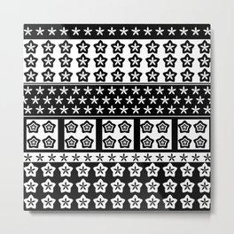 Japanese Style Kawaii Stars Patchwork Metal Print