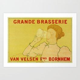 Van Velsen Belgian beer Art Print