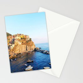 Cinque Terre dusk Stationery Cards