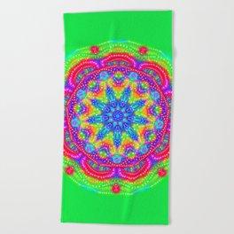 Amazing Day Neon Mandala Beach Towel
