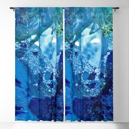 Environmental Blue Leaves, Tiny World Collection Blackout Curtain