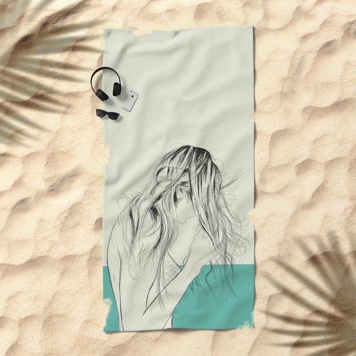 Woman Color 8 Beach Towel