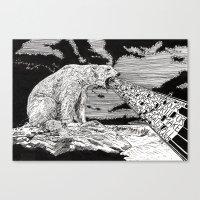 polar bear Canvas Prints featuring Polar Bear by Meredith Mackworth-Praed