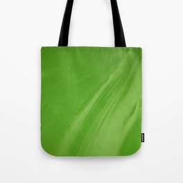 Blurred Emerald Green Wave Trajectory Tote Bag
