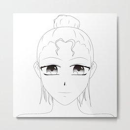 female drawing Metal Print