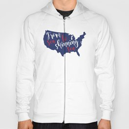 From sea to shinning sea Map American Flag distressed rustic patriotic independence 4th of July Hoody