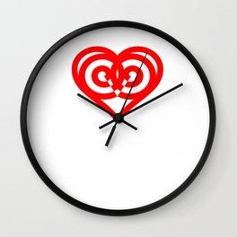 Graphic Heart Wall Clock