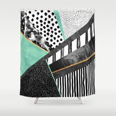 Lines & Layers 3 Shower Curtain
