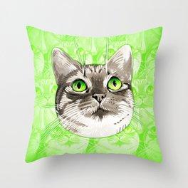 Mojo Kitten Throw Pillow