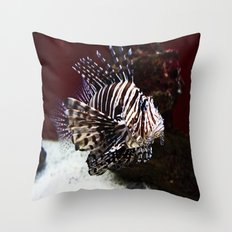 Devil Firefish Throw Pillow