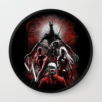 starlord Wall Clocks featuring Legendary Guardians by Fuacka