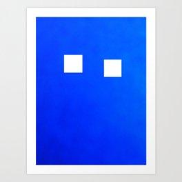 Minimalism Electric Blue Art Print