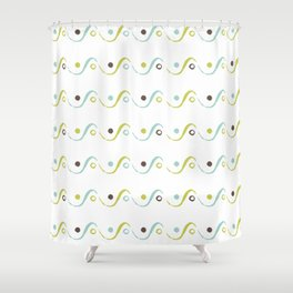 Circles On the Waves Shower Curtain