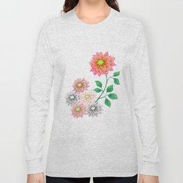 Sweet Dahlias Long Sleeve T-shirt
