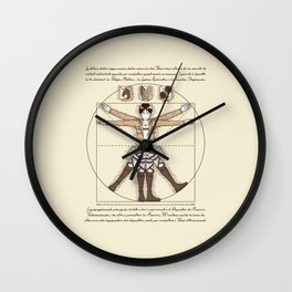 Vitruvian Trainee Wall Clock