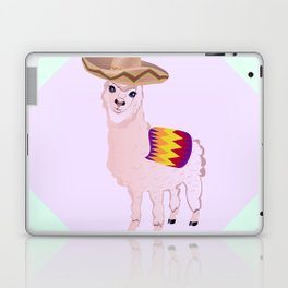 Cartoon Alpaca in Sombrero Laptop & iPad Skin