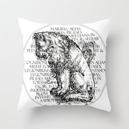Hierarchia Inferni - Marbas Throw Pillow