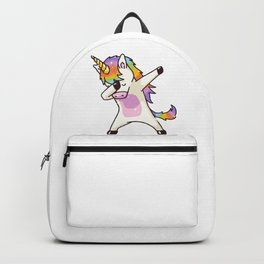 Dabbing Unicorn Shirt Dab Hip Hop Funny Magic Backpack