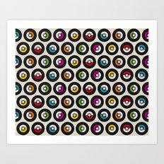 Dancing vinyls Art Print